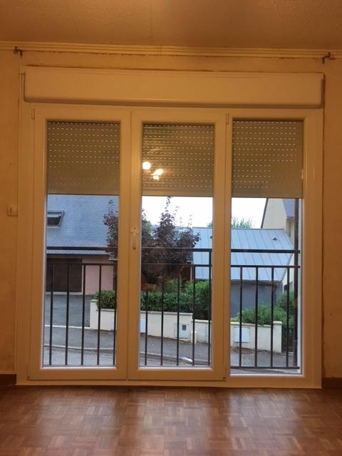 porte fenêtre avec volet roulant intégré