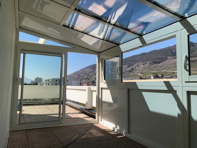 veranda sur terrasse